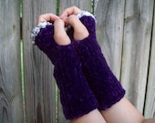 "Custom for Cinnamon: 16"" Fingerless Gloves in light brown tweed light brown"