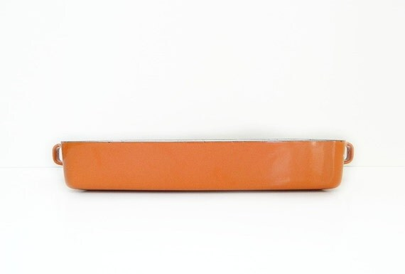 Orange Dansk Kobenstyle Enamel Baking Pan