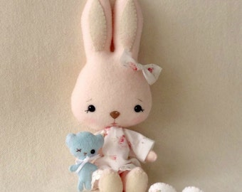 Bunnycup and Tedward pdf Pattern - Instant Download