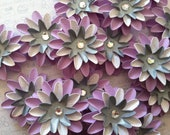 Set of (6) Lilac Paper Flowers
