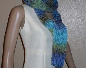 Multicolor  Fun Skinny Long Scarf READY TO SHIP