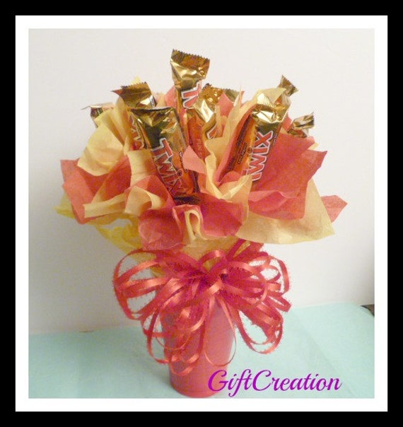 Items Similar To Candy Bouquet Mother's Day Arrangement