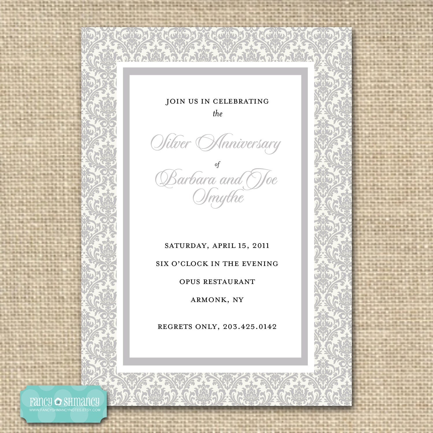 25th Wedding Anniversary Gift Certificate Template : Unavailable Listing on Etsy