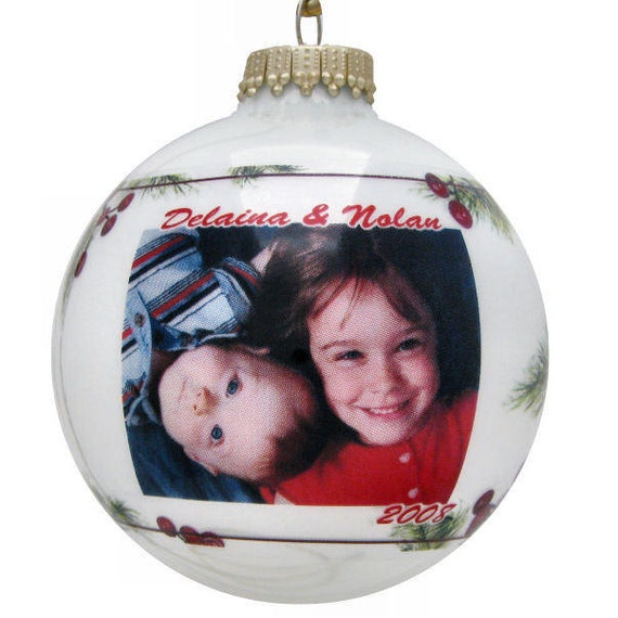 Photo bulb personalized christmas ornaments cranberry by for Personalized christmas photo ornaments