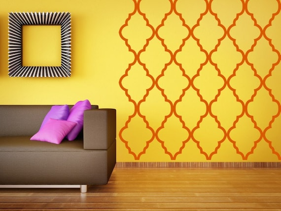 Moroccan Wall Decor, Quatrefoil Wall Pattern, Geometric Wall Decal,  Moroccan Wall Art,
