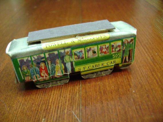 vintage san francisco cable car matchbox