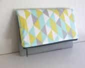 Custom for Christine-Fresh mint fold over clutch--Ready to ship