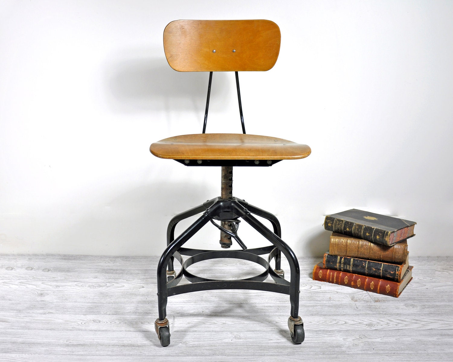Bent plywood office chair - Reserved Vintage Industrial Toledo Chair Bent Plywood