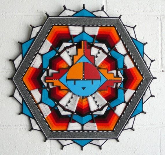 Native American made Hopi Sun Symbol Hopi Sun Symbol