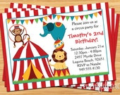 Circus Birthday Party Invitation for Kids