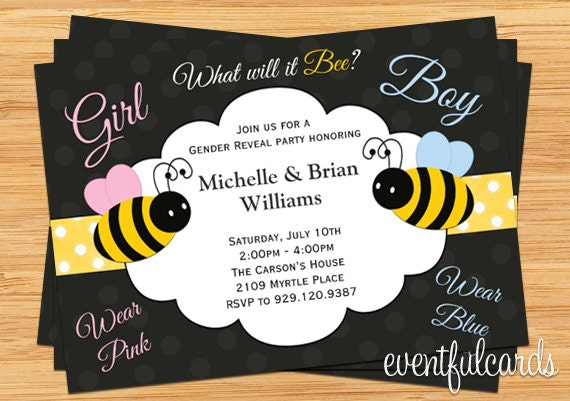 What Will it Bee Gender Reveal Party Invitation Printable by