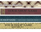 Vintage Etsy Shop Banner and Matching Etsy Shop Avatar One of a Kind Digital - SimpleCleanDesigns