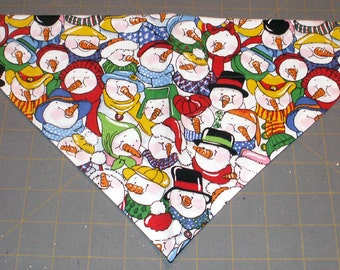 Christmas Dog Bandana, snowman, winter, holiday