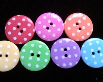 10pcs Cute retro Buttons 33 mm mix color