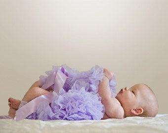 Lavender Newborn Pettiskirt with free headband with flower