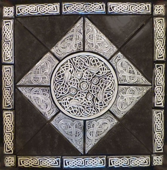 Decorative Celtic Knot Handmade Tile Set By Earthsongtiles