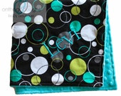 Minky Baby Blanket Lagoon Hoopla Dot Turquoise Minky Personalized or Choose your own Color Minky
