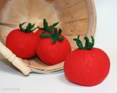 Felt Food Tomato Pretend Play Food Vegetable 1 Eco Friendly Toy