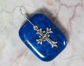 Afghan Lapis Lazuli Cross Pendant
