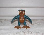 Reserved for Lynne- Vintage Rice Owl Figurine