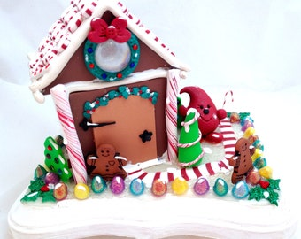 Parker's Christmas Gingerbread House - Polymer Clay Decoration