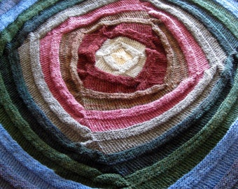 Kaleidoscope Knitted Blanket