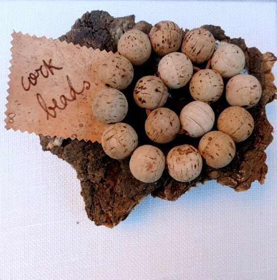 Cork Beads: 25pcs 25mm Natural Round Cork Beads, Create Organic