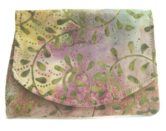 Mottled Vines Batik Small Wallet