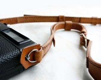 Brown Premium Camera Neck Strap (RING) - Made to Order