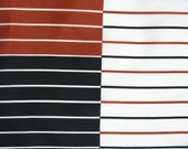 Graphic Op art inspired Vera scarf. Black, brown and white, stripes, color block.