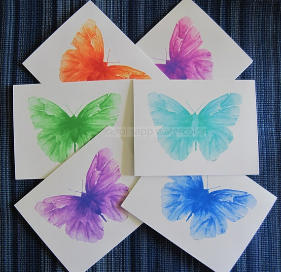 butterfly cards set of 6