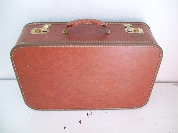 1950s Suitcase Hardside Luggage Metal Envoy Tag