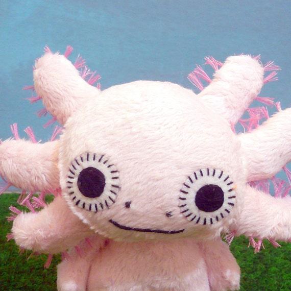 Hayao the Axolotl monster- reserved for ilovegemstones