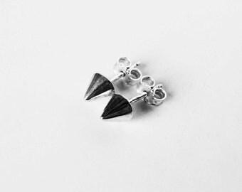 sterling silver spike earring studs
