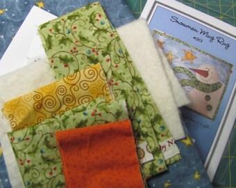 Snowman Mug Mat Kit with Pattern