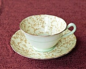 Hidden Charms Vintage Teacup and Saucer - Grosvenor Bone China, Jackson & Gosling, England