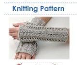 Knitting Pattern -  Lace Fingerless Gloves