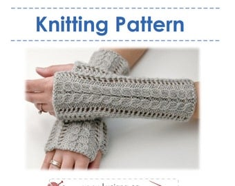 Knitting Pattern -  Lace Fingerless Gloves