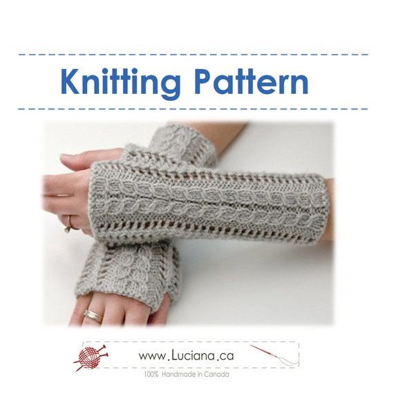 Lace Mittens Knitting Pattern : Knitting Pattern Lace Fingerless Gloves