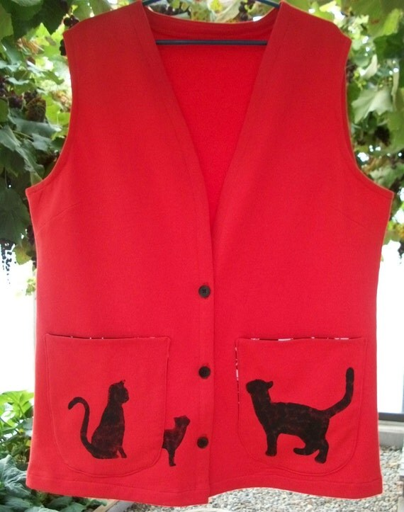 Reserved for Melody - Custom Cat-themed Skirt and Vest