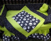 Custom made 7 piece new NIGHTMARE BEFORE CHRISTMAS baby Crib Bedding Set
