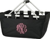 Personalized Collapsible Large Market Basket (BLACK)