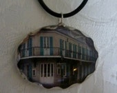 Photo Art Pendant-French Quarter Shop-New Orleans-Handmade Jewelry