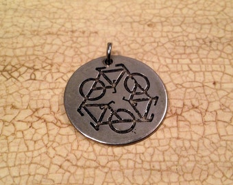 Bike Pendant - Recycle bike pendant