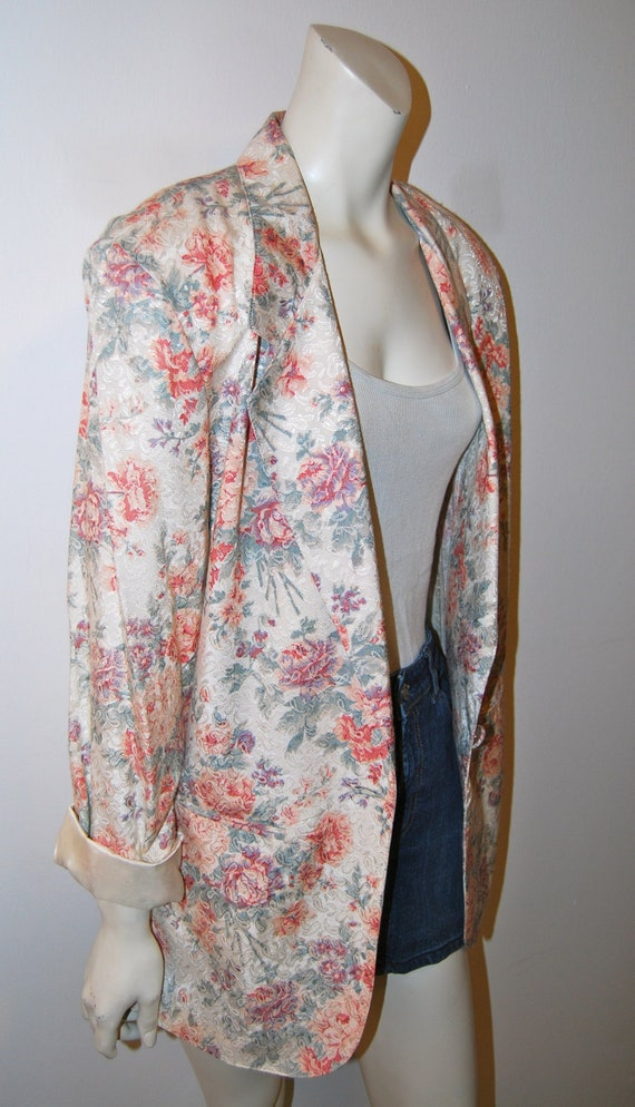 Price Reduced - Vintage 80's Early 90's Oversized Floral Blazer