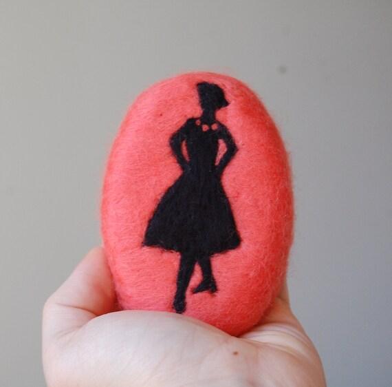 Felted Soap Lady ( Moonlight Pomegranate )