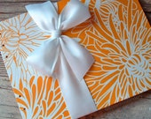 Wedding Guest Book, Orange Crush, Select a size, MADE upon ORDER