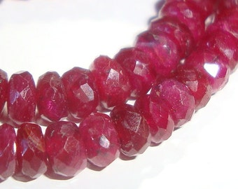 40 pcs, 3.5-4mm, Ruby Rondelles Beads, Beautiful Color