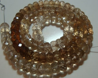 Gorgeous Genuine Imperial Topaz Faceted Lovely Diamond Cut Rondelle, Reduced from 66.80, 1/2 Strand, 4.5-5x2.5-3mm, N13-1