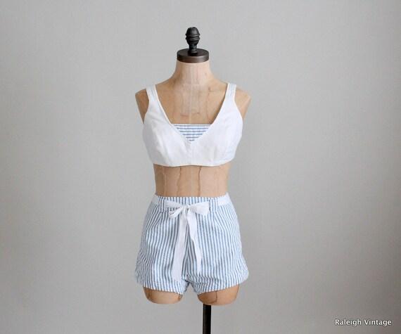 Vintage 1960s Bathing Suit : 50s 60s Catalina Swimsuit